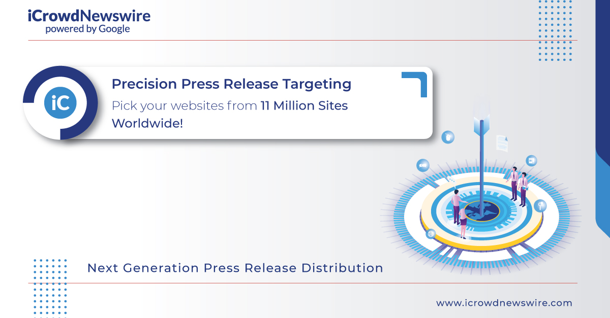 icrowdnewswire powered by google launches industry first press release targeting allowing release issuers to choose web sites from googles network of 11 million sites worldwide